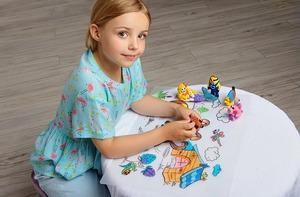 Коврики-раскраски для детей – безграничное творчество и чистый стол!