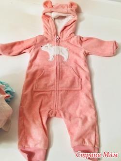 Косплект Одежда на новорожденную девочку Carter's