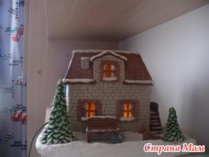Новогодний домик из соленого теста