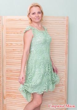 Вязаное крючком летнее платье