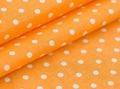 Ткань п/лен набивной Горошек оранжевый 152 + орг