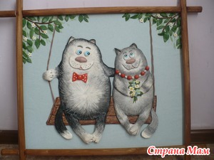 Котики из соленого теста