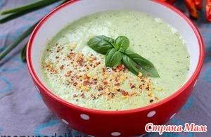 Холодный суп-пюре с цуккини