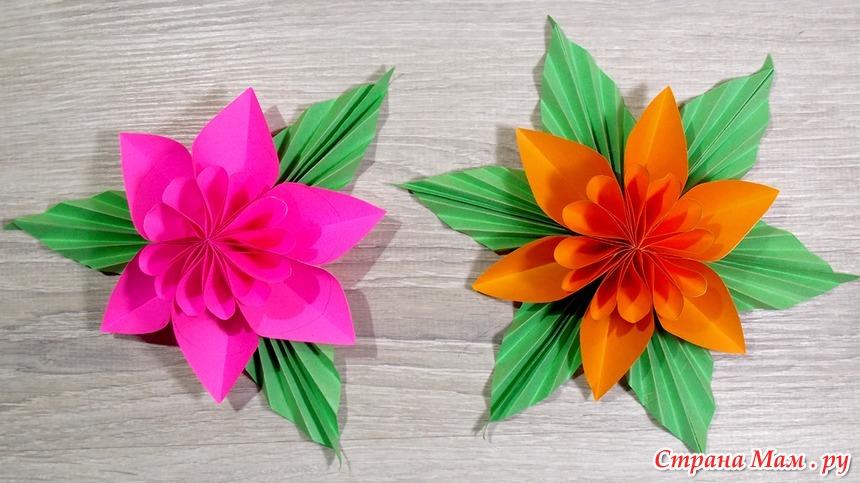 Как сделать цветок из бумаги. Поделки из бумаги - Поделки ...  Красивые Поделки из Бумаги И Как Их Делать
