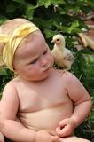 Первое знакомство с цыпленком и первый раз у бабушки на даче!