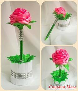 Подарок учителю Ручка-цветок