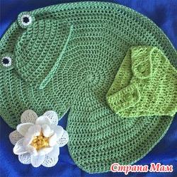 Комплект одежды для фотосессии новорожденных. Лягушонок