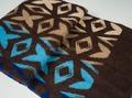 Одеяло п/шерсть 70% 140*205 жаккард цв. коричневый с синим  835 руб  +15%
