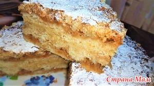 Насыпной яблочный пирог, самый ленивый яблочный пирог