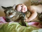 Первый раз дали потрогать живого кота