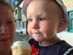 Первое в жизни мороженое.
