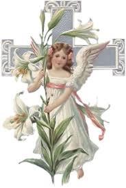 Ангелочек с лилиями