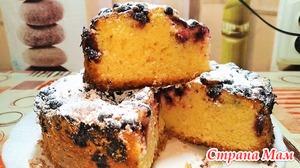 Пудинговый пирог. вкусная домашняя выпечка.