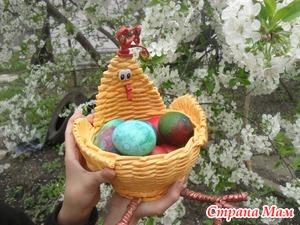 """Пасхальная курочка и """"космические"""" яйца."""