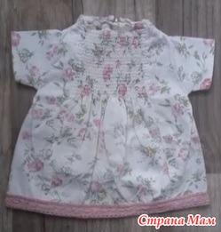 Платье для куклы из старой детской одежды!