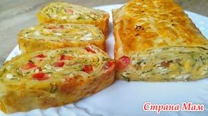 Завтрак из лаваша и сыра на сковороде