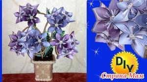 Денежный топиарий - цветок кусудама из шуточных денег.