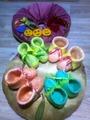 Валяные пинетки для новорожденных.