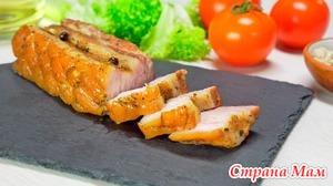 Свинина в духовке, запеченная с ароматными травами