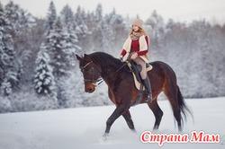 Верховые прогулки, катания на лошадях.