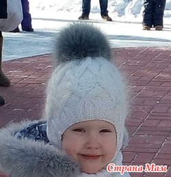 "Зимняя шапочка ""Пушистая снежинка"""