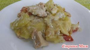 Горбуша, запеченная с овощами в духовке