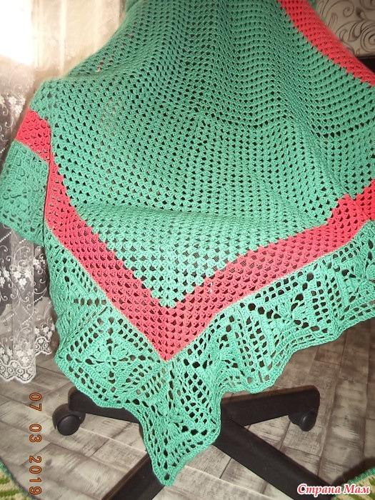 плед детский бабушкин квадрат вязание крючком вязание страна мам