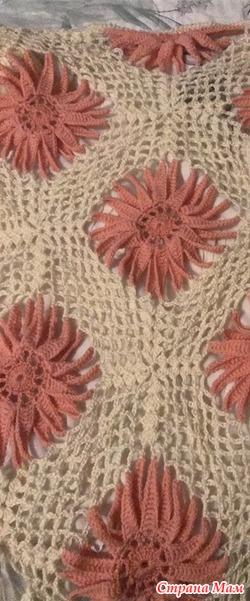 """Вяжем очень красивые шали """"разноцветные из шерстяных ниток"""""""