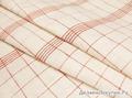 Ткань в красную клетку лен 100%  302 руб/м + 20%
