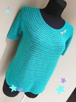 193fbdfeff06617 Совсем недавно только закончила свитер из Пехорки. Вязала тоже круглую  кокетку, но только спицами. А на лето предпочитаю вязать крючком. В Стране  мам ...