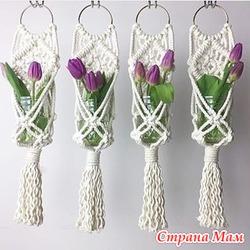 Кашпо для цветов(макраме)