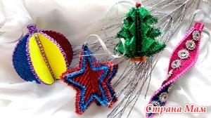 4 идеи новогодних игрушек из фоамирана