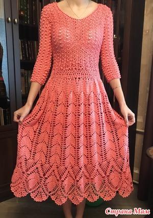 Ажурное платье для доченьки