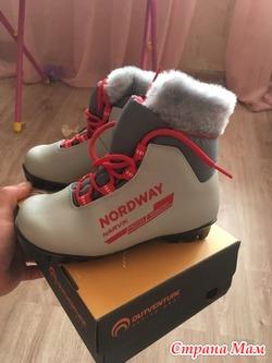 Продаются лыжные ботинки размер 32