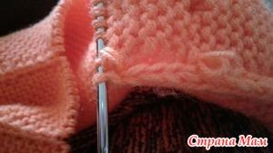 Ошибка при вязании кромочного края I-CORD