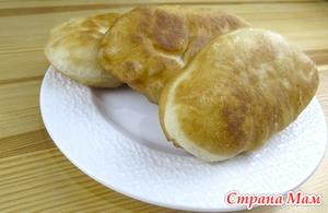 Жареные пирожки с картошкой(постные)