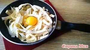 Завтрак из лаваша, творога и яиц