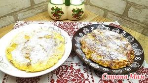 Завтрак (перекус) из лаваша, яиц, творога и яблок