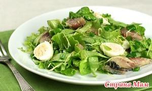 Салат с сельдью.