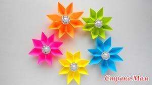 Простые бумажные цветы. Поделки оригами своими руками к 8 марта