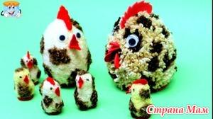 Пасхальные цыплята, курочка и петух - своими руками поделки