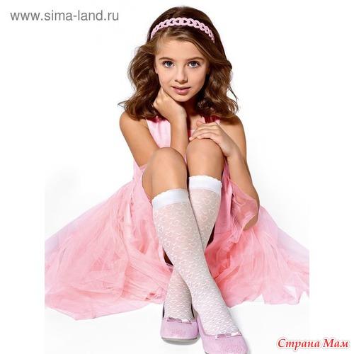 Гольфы для девочек нарядные, цвет белый, размер 18-20,  127 РУБЛЕЙГольфы для девочек нарядные, цвет белый, размер 18-20,  127 рублей