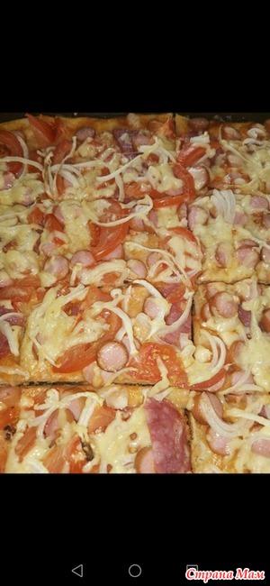 Пицца на сковороде за 10 минут!