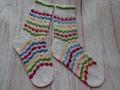 Февраль Носки жаккардом Nako Pure Sock 50гр и 22гр остатков четырех цветов