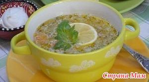 Рисовый суп с кунжутом.