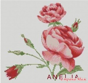 Схема для вышивки крестом Роза