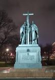 Москва вечерняя. Памятник Мефодию и Кириллу.